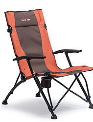 cheap -Camping Chair with Cup Holder Portable Foldable Comfortable Durable Steel Tube Oxford for 1 person Camping Camping / Hiking / Caving Traveling Picnic Autumn / Fall Spring Orange