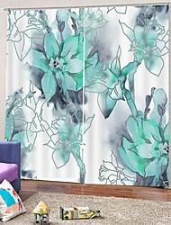 abordables -pastorale frais uv impression numérique occultation thermique rideau tissu chambre à coucher l'étude