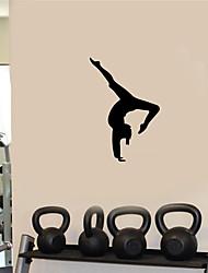 Недорогие -Натюрморт / Геометрия Наклейки Простые наклейки Декоративные наклейки на стены, PVC Украшение дома Наклейка на стену Переключения / Холодильник Украшение 1шт / Съемная