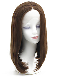 cheap -Synthetic Lace Front Wig Straight Lily Bob Lace Front Wig Short Ash Brown Synthetic Hair 12-16 inch Women's Heat Resistant Classic Women Brown / Glueless