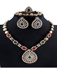 cheap -Women's Multicolor Bridal Jewelry Sets Link / Chain Teardrop Stylish Luxury Earrings Jewelry Rainbow For Christmas Wedding Party Engagement Gift 1 set
