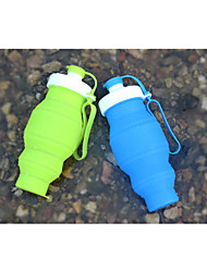 cheap -530ML Portable Silicone Folding Water Bottle Collapsible Drinking Outdoor Travel Sport Kettle Gift