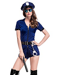 cheap -Police Costume Women's Career Halloween Performance Cosplay Costumes Theme Party Costumes Women's Dance Costumes Polyester Belt