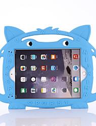 cheap -Case For Apple iPad Mini 3/2/1 / iPad Mini 4 / iPad Mini 5 Shockproof / Child Safe Case Back Cover Solid Colored / 3D Cartoon / Animal Silica Gel