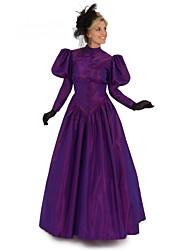 cheap -Duchess Victorian 1910s Edwardian Dress Women's Costume Purple / Red / Green Vintage Cosplay Masquerade Prom Long Sleeve Floor Length Long Length Ball Gown Plus Size