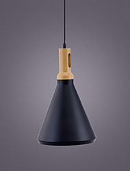 cheap -1-Light 26 cm Pendant Light Metal Cone Industrial Painted Finishes Retro 110-120V 220-240V