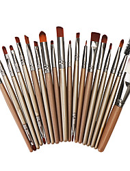 cheap -Professional Makeup Brushes 20pcs Full Coverage Plastic for Eyeliner Brush Foundation Brush Makeup Brush Lash Brush Eyebrow Brush Eyeshadow Brush