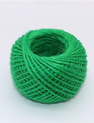 abordables -Dongguan fq1ho_absau 3 brins 2mm couleur balle de chanvre à la main bricolage rétro artisanat en céramique décoration plat corde de chanvre vêtements tag étiquette de chanvre corde rouge