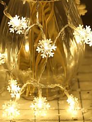 cheap -3m Snow Flakes String Lights 20 LEDs Warm White Christmas Wedding Party Decoration 3V 1set