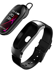 cheap -KR04 Smart Wristband Bluetooth Headset Answer Call Passometer Heart Rate Fitness Bracelet Smart Band Earphone For Android IOS Watch