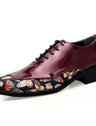 cheap -Men's Formal Shoes PU Spring / Fall Casual / British Oxfords Black / White / Red / Party & Evening / Party & Evening / Dress Shoes