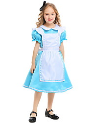 cheap -Alice in Wonderland Costume Kids Girls' Fairytale Theme Halloween Performance Cosplay Costumes Theme Party Costumes Girls' Kids' Dancewear Terylene Bowknot