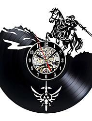 cheap -Art Nouveau CD vinyl record wall clock Salda legend handmade black wall clock
