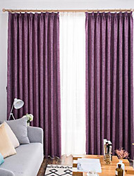 cheap -Modern Blackout Two Panels Curtain Living Room   Curtains