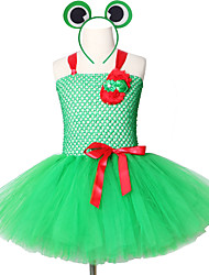 cheap -Sleeveless School Performan Frog Tutu Suit Cute Animal Christmas Kid Birthday Party Wear With Headwear