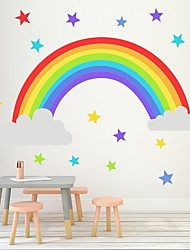 cheap -Rainbow Star Wall Sticks Kindergarten Bedroom Living Room Children'S Room Self-Sticking Paper Wallpaper Decorative Wall Stickers - Plane Wall Stickers Still Life Kids Room / Nursery
