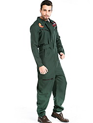 cheap -Pilot Costume Men's Career Halloween Performance Cosplay Costumes Theme Party Costumes Men's Dance Costumes Polyester Split Joint