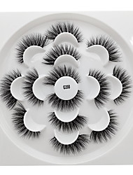cheap -Eyelash Extensions 7 pcs Easy to Use Comfy Ultra Light (UL) Portable Casual / Daily Safety Animal wool eyelash Dailywear Full Strip Lashes - Makeup Daily Makeup Boutique Cosmetic Grooming Supplies