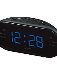 cheap -LED Alarm Clock Radio Digital AM/FM Radio Red With EU Plug