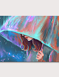 cheap -Oil Painting Hand Painted - People Pop Art Modern Rolled Canvas