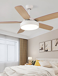 cheap -1-Light 132 cm Mini Style / Tri-color Ceiling Fan Metal Circle / Mini Painted Finishes / Wood Traditional / Classic / Modern 110-120V / 220-240V
