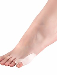 cheap -1 Pair Small Toe Crusher Bone Foot Care Valgus Orthotics Corrective Toe Separator For High Heel Nursing Silicone Toe Protecting
