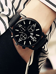 cheap -Men's Bracelet Watch Quartz Stylish Leather Black 30 m Water Resistant / Waterproof Cool Punk Analog Casual Fashion - Green White Orange One Year Battery Life