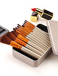 abordables -Professionnel Pinceaux à maquillage 12 pcs Professionnel Doux Couvrant Confortable Bois / bambou pour Set de maquillage Kit de fards à paupières Accessoires de Maquillage Outils de défaut Pinceau