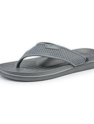 cheap -Men's Comfort Shoes PU Summer Casual Slippers & Flip-Flops Non-slipping Black / Blue / Gray