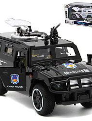 cheap -1:32 Toy Car Model Car Vehicles Police car Cool Music & Light Pull Back Vehicles Aluminium Alloy Mini Car Vehicles Toys for Party Favor or Kids Birthday Gift 1 pcs