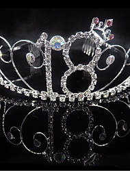 cheap -Birthday Party / Birthday Party Accessories Tiaras Trim / Crystals / Rhinestones Rhinestone / Alloy Number