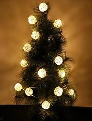 cheap -16ft Length 20 Balls,Rattan Ball  LED Decorative String Light, AC 220V US Plug,Warm White