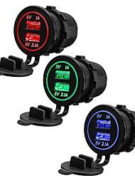 Недорогие -12 24v 3.1a двойной usb разъем автомобильное зарядное устройство адаптер питания для мотоцикла atv лодка