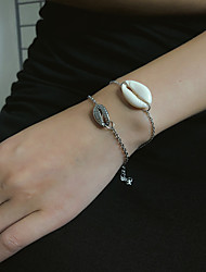 cheap -2pcs Women's Bracelet Classic Shell Simple Stone Bracelet Jewelry Gold / Silver For Gift Daily School Holiday Work