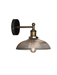 cheap -Vintage Wall Sconce Round Glass Shade American Retro Industrial Metal Wall Light Bronze Finish Wall Light Fixture for Bedroom Bar