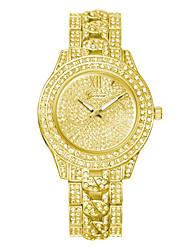 Недорогие -Женева женская мода кварцевые часы кристалл горного хрусталя часы женские наручные часы высокого класса сплава