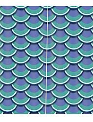 Недорогие -трансграничные поставки цифровой печати шторы утолщенные полный оттенок ткани занавес для спальни водонепроницаемый против морщин чистый полиэстер занавески для душа