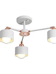 Недорогие -sputnik люстра 3 светильника подвесной светильник полупрозрачный потолочный светильник окрашенная отделка гальваническим металлом белое розовое золото