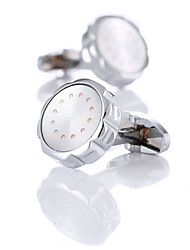cheap -Cufflinks Classic Fashion Crystal Brooch Jewelry Silver For Wedding Gift