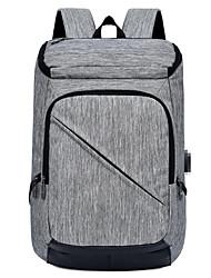 cheap -Large Capacity Oxford Zipper School Bag Solid Color Daily Black / Dark Grey / Light Grey / Fall & Winter