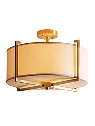 abordables -4 lumières Batterie/Tambour Plafonniers Lumière d'ambiance Plaqué Métal Tissu 110-120V / 220-240V