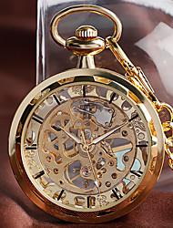 Недорогие -Муж. Карманные часы Механические, с ручным заводом Золотистый Повседневные часы Крупный циферблат Аналоговый На каждый день Новое поступление - Золотой