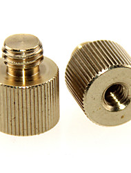 cheap -CAMVATE 2 Pack 1/4-20 Female Threaded Adapter to 3/8-16 Male Threaded Post C1243