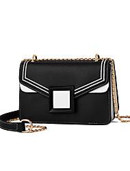 cheap -Women's Chain PU(Polyurethane) / PU Crossbody Bag Striped Black / Black / White / White / Fall & Winter