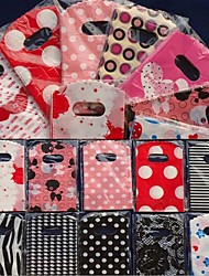 cheap -Ainest NT 50pcs Wholesale Pretty Mixed Pattern Plastic Gifts Mini Bags Shopping Bags