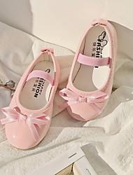 cheap -Girls' Flower Girl Shoes PU Flats Little Kids(4-7ys) Black / Red / Pink Summer