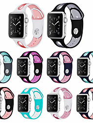 cheap -Watch Band For Apple Watch Band 42mm 38mm 44mm 40mm Strap Silicone Iwatch Bands For Apple Watch Series 6 SE 5 4 3 2 1