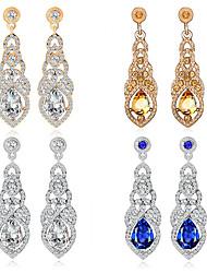 cheap -Women's Clear Blue Drop Earrings Earrings Pear Cut Drop Korean Fashion Cute Elegant Colorful Imitation Diamond Earrings Jewelry Champagne / Gold / Silver For Daily 1 Pair