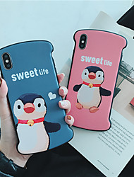 cheap -Case For Apple iPhone XS Max / iPhone X Soft silicone Shockproof Apple protective shell Cartoon TPU Pattern Pouch Bag Flower Soft Plastics for iPhone 6 / iPhone 6s Plus / iPhone 8