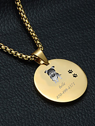 cheap -Personalized Customized German Shepherd Dog Dog Tags Classic Gift Daily 1pcs Gold Silver